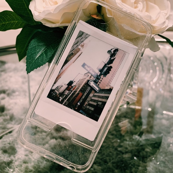 online store 298c6 ecabf Clear instax photo frame iPhone Case for 6s/7s/8